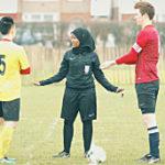 Jawahir... Somali-born girl ref men's game in UK