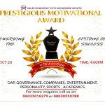 Prestigious Motivational Award Nominees List Coming Soon