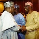 Sanwo-Olu described Lawan as freshly minted Senate President