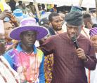 Obanikoro Shines     at  Amb. Ogungbe's      Bridge Opening    Ceremony