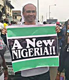 #EndSARS: Nollywood Star, Paul Obazele leads protest, calls for a new Nigeria