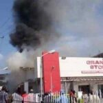 Ajimobi's wife multi-million naira supermarket burnt
