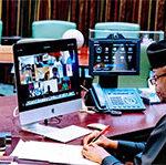 Osinbajo takes over FEC meeting as Buhari arrives London