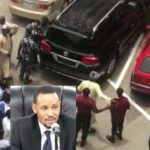 Code of Conduct Tribunal Chairman unleashes his wrath on a security guard...Mr  Macaroni reacts