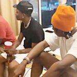 (Video) Bella Shmurda meets Wizkid in Ghana