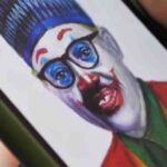 Agbaje The Artist Who Depicted Buhari With Red Nose, Lips
