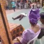 (Video): Man dies of heart attack while dancing at an event in Rivers