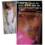'You burst my brain' – Singer Tiwa Savage reacts as fan tattoos her name on her chest