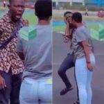 [Video] Nigerian Lady Slaps Her Boyfriend For Threatening To Quit Their Relationship