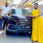 Husband gifts Angela Nwosu brand new SUV after delivering a baby girl