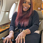(Video) Bisola Aiyeola: Money is good in this life... steps in and out of a parked PJ