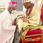 84-year-old Obasanjo bowed before Olu of Warri (Video)