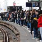 Germany rail operators strike causes commuters stranded