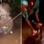 (Video) Edo community rescue baby left to die in muddy water