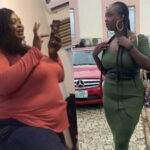 Lady reveals photographs of body transformation within a year and half