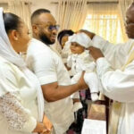 Tonto Dikeh ex-hubby shares son's christening video, pictures