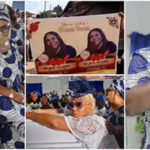 Shan George Shares Photos, Video From Mum's Befitting Burial