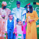 Buhari Honours Patriotism…award for bravery received by late Blankson's wife, children